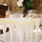 candy bar białystok rustykalny biało-złoty mini-deserki panna cotta