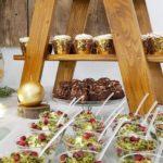 candy bar białystok rustykalny biało-złoty - leśny mech