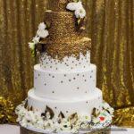 candy bar białystok złoty - tort weselny złoto-biały