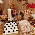 candy bar białystok złoty z piórami - sernik oreo i makaroniki