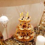 candy bar białystok złoty z piórami - tartaletki