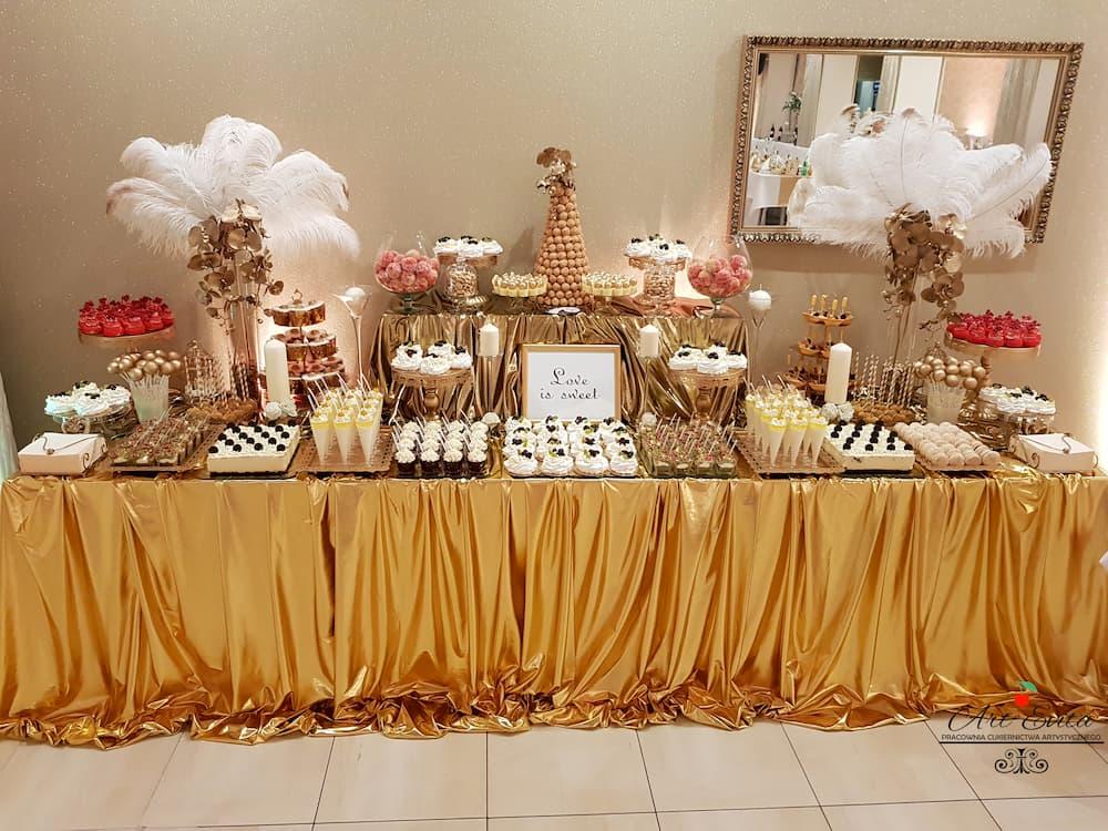 candy bar białystok złoty z piórami