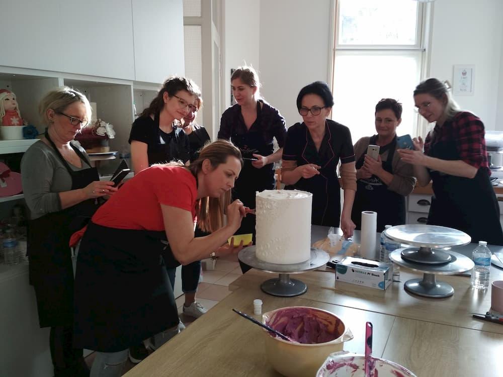 szkolenia cukiernicze - podczas szkolenia