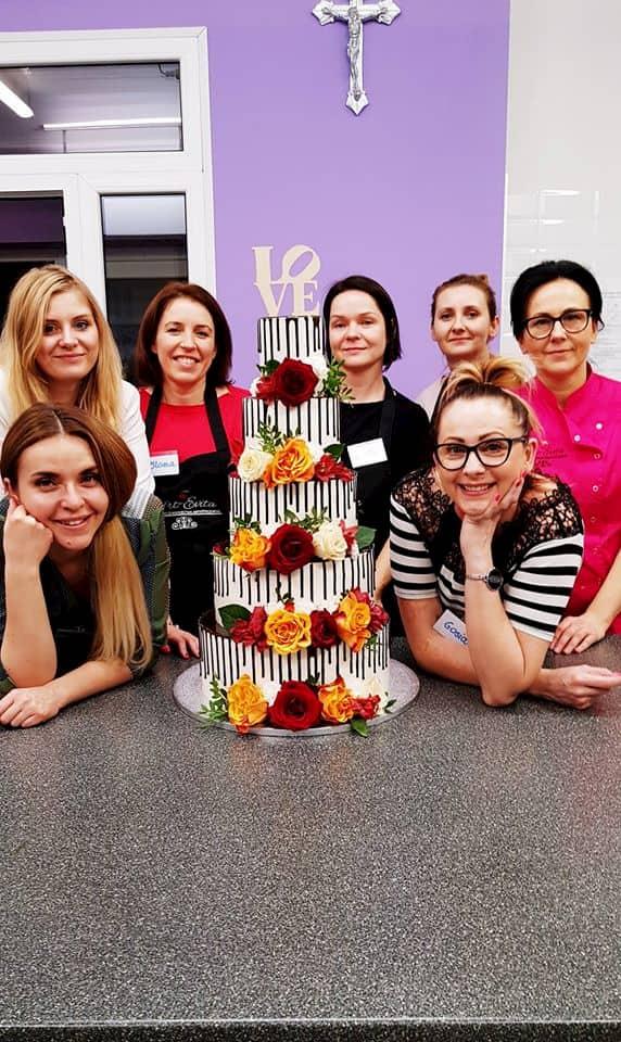 szkolenia cukiernicze - grupowe z tortem