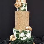 torty bialystok - weselny biały złoty zielony