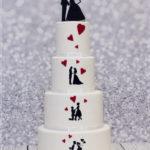 torty bialystok - weselny z figurkami biały
