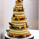 torty bialystok - weselny naked z owocami