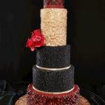 torty bialystok - weselny czarny złoty czerwony