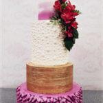 torty bialystok - weselny semi-naked biało-różowy