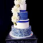torty bialystok - weselny biały niebieski