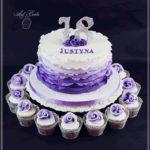 torty okolicznościowe białystok - 18 urodziny fioletowo-biały